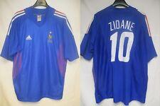 Maillot Equipe de FRANCE Adidas World Cup 2002 ZIDANE 10 jersey shirt vintage XL