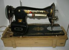 Vintage Singer Black Sewing Machine with Foot Pedal in Case Tested Works