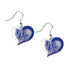 Kentucky Wildcats UK Earrings Logo Swirl Heart Fashion Dangle Earrings
