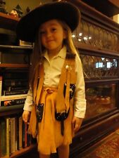 Swede Child's Cowgirl Skirt and Vest Leather