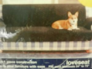 """Quilted cotton furniture pet cover, Love seat size, Fits most 54-73"""", Claret Red"""