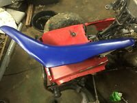 yamaha ttr125 seat  dirt bike saddle  cover  pan  complete 2003