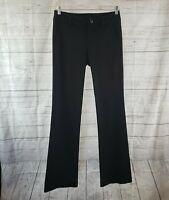 CAbi 3202L Womens Top Notch Trouser Sz 4 Long Black Mid Rise