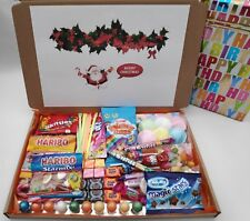 Personalised CHRISTMAS RETRO SWEETS SELECTION BOXES Gift Hampers Great for Them