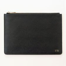 OLIVIA & CO. Black Leather A4 Pouch