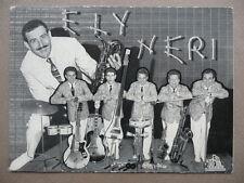 Cartoncino Pubblicitario Ely Neri Jazz Folk Cetra Musica Orchestra 1950