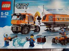LEGO City 60035 La base arctique - COMPLET sauf 1 figurine sur 3- boîte, manuels