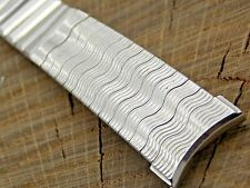 Vintage NOS Unused Kreisler White Gold Filled Watch Band 19mm Center Expansion
