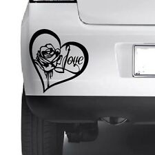 ROSE HEART LOVE Car Bumper Van Window Wall Laptop VINYL DECAL STICKER