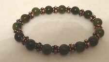 Jade and Copper accents Bracelet