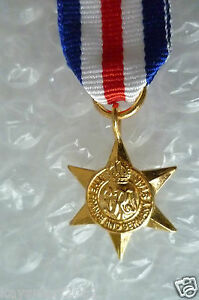 Miniature Medal & Ribbon- France And Germany Star
