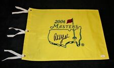 PHIL MICKELSON Autographed/Signed 2006 Masters PGA Pin Flag  JSA/LOA Full Letter