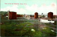 Vintage Postcard 1910s View of the Oil Refineries Olean New York NY Unused
