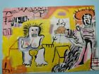 Jean-Michel Basquiat 1981 Hand-painted acrylic painting on wood