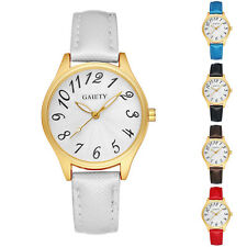 G051 Faux Leather Quartz Wrist Watch Fashion Women Arabic Wristwatch Seraphic
