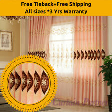 Net Floral Sheer Window Curtains
