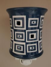 Scentsy Wonky Nightlight Plug-In Warmer Blue and White