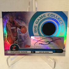 2005-06 Topps Big Game Collection Auto / Jersey Dwayne Wade #65/199