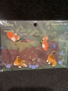 Loungefly Disney Fox And The Hound Four Pin Set New In Hand