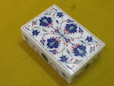"6"" x 4"" x 1.5"" Marble Box Semi Precious Stone Lapis Handicraft Home Decor"