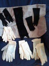 Vintage Ladies Gloves 7 Pair Variety Cotton Nylon