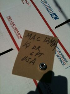"MAC TOOLS 1/4"" DRIVE 12mm Socket   SAVE USA MAD NICE $$$"
