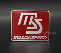 1Pcs Aluminum Car Modified Emblem Badge Sticker Logo Fits for Mazdaspeed MS Red