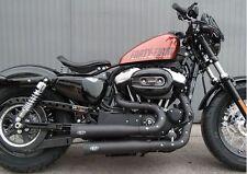 MCJ Short Royal Auspuff Komplettanlage Black für Harley Sportster 04-13 EG-BE