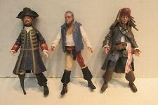3 Jakks Pirates of The Caribbean Figures Toys Jack Sparrow Barbosa Gibbs 2011