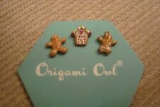 "Authentic Origami Owl Christmas Gingerbread House, Boy & Girl Charms Lot ""New"" C"