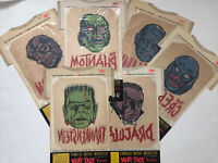 Mani-Yack Complete Set of Famous Movie Monsters-Vintage 1964-Creature-Dracula