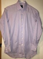 David Donahue Men's Dress Shirt Size 16 1/2 34-35 Excellent Used Condition