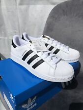 Adidas Superstar Size UK10 White Black BRAND NEW WITH TAGS