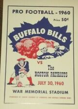 1960 Buffalo Bills Poster vs. Boston Patriots - AFL - Jack Kemp - Jim Kelly