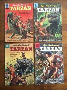 Edgar Rice Burroughs' Tarzan #118,121,122,124 (Dell Comics 1960) Manning, Marsh
