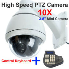 "CCTV 10x Zoom 1/3"" SONY CCD 700TVL Outdoor Dome High Speed PTZ Camera + Keyboard"