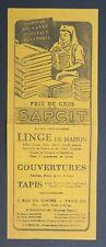 BUVARD SAPCIT linge de maison tapis couverture PARIS Blotter Löscher
