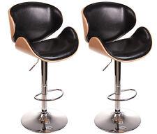 2203 Ensemble de deux design siège bar lounge en hêtre Tabouret NEUF / emballé