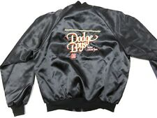 80s Retro DODGE BOYS Have More Fun Graphic Black Snap Up Jacket Adult Size Large