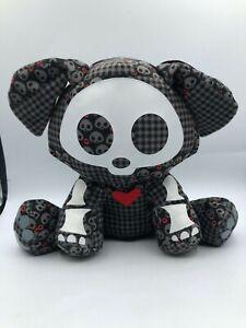 Skelanimals Dax The Dog Toynami 2008 Plush Stuffed Animal Toy Doll Black Teddy