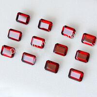 Calibrated Natural Red Garnet Octagon Cut Loose Garnet Gemstone Wholesale