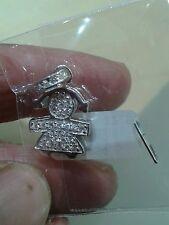 1 CIONDOLo Bebè bimba argento 925  con zirconi brillanti pendant