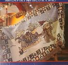 NOS Zriegel Infant Baby Christmas Tapestry  Blanket Teddy Bear Sleigh Open Box