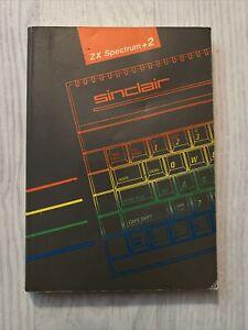 Vintage Sinclair ZX Spectrum +2 Computer User Manual Instruction Book 1986