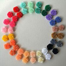 Con Pasador Aro Colorido 15mm Rosa Flor Boda Espalda Plateados Retro Lindo Funky