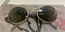 VIntage Ray Ban Orbs Matte Gold Wrap Sunglasses 1990s #412 EUC