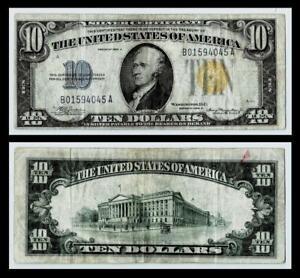 1934-A  $10 North Africa Silver Certificate ~~FINE