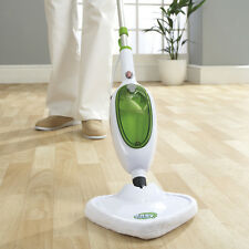 Green Heated 1300w Easy Steam MOP Cleaner Microfibre Cleaning Floor Washable Pad