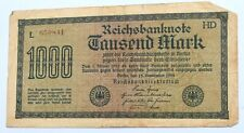 1922 Germany 1,000 Mark Reichsbanknote - Serial Number L 650841