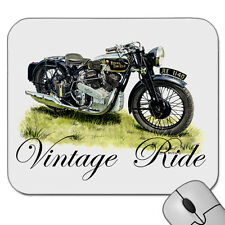 VINTAGE 1937  ROYAL ENFIELD  KX  DELUXE  MOTOR BIKE    MOUSE PAD  MOUSE MAT